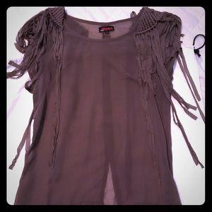 Kat Von D Sheer fringe blouse